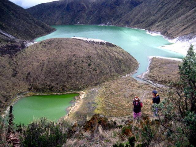 volcán azufral, Laguna verde